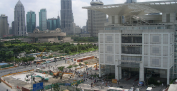 Shanghai Urban development centre on people's square (credit: Flickr)