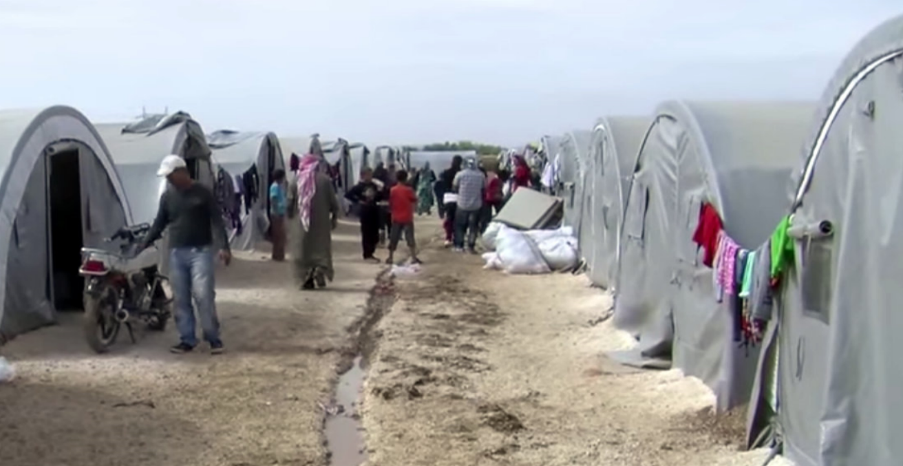 A refugee camp near the Syrian border at Suruç, Turkey.