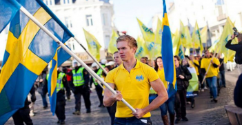 Sweden Democrats' March (Credit: Twitter @enjavi_com)