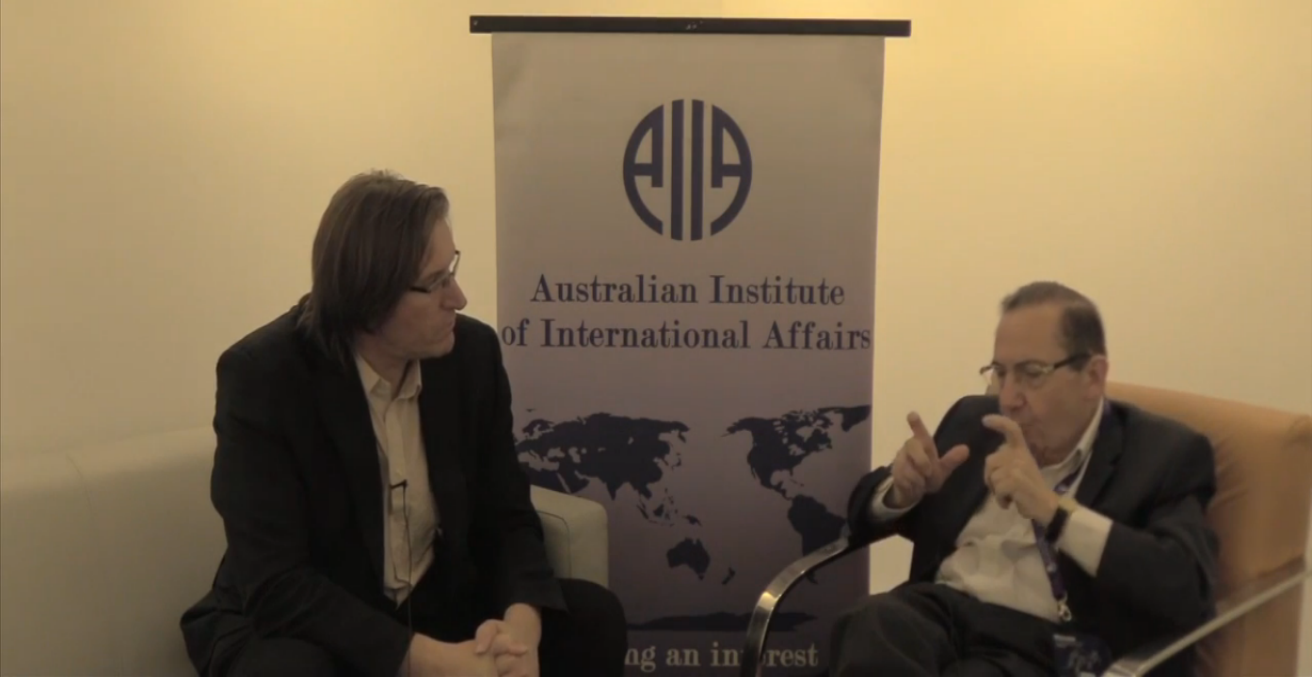 Gavin Mount from the AIIA ACT interviewed Emeritus Professor Joseph Camilleri OAM during the IPSA World Congress held in Brisbane.