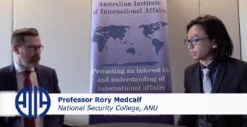 The Australian Outlook Editor, Tommy Chai, interviews Professor Rory Medcalf at the 2018 AIIA National Conference on 15 October.