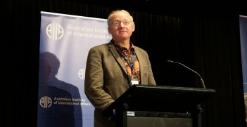 Professor Toby Walsh at the 2018 AIIA National Conference on 15 October (Credit: Lauren Skinner, former AIIA intern)