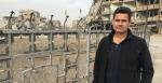 Matt Brown at Naim square in Raqqa, 19 December 2017 (Credit: Twitter @abcmatt)