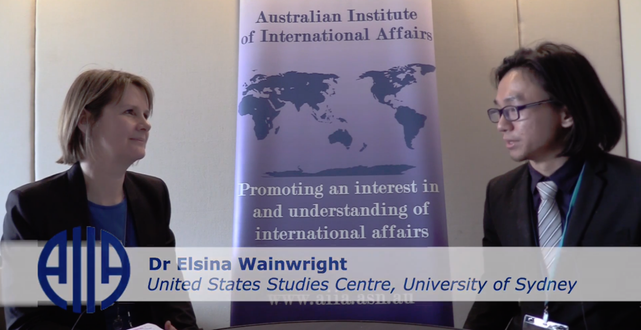 The Australian Outlook Editor, Tommy Chai, interviewed Dr Elsina Wainwright AM  from the US studies Centre at the 2018 AIIA National Conference on 15 October.