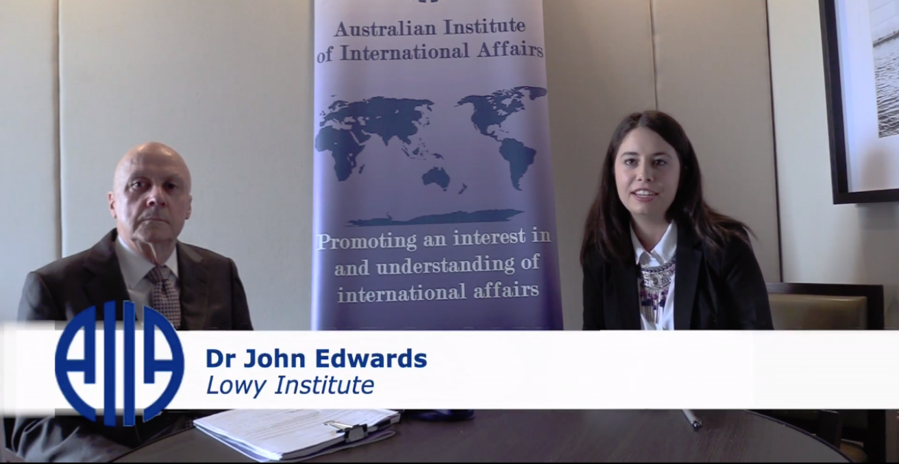 AIIA National researcher Steph Rowell interviewed Dr John Edwards at the 2018 AIIA National Conference on 15 October.