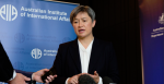 Senator the Hon Penny Wong at 2018 AIIA National Conference, 15 October (Credit: Lauren Skinner, former AIIA intern)