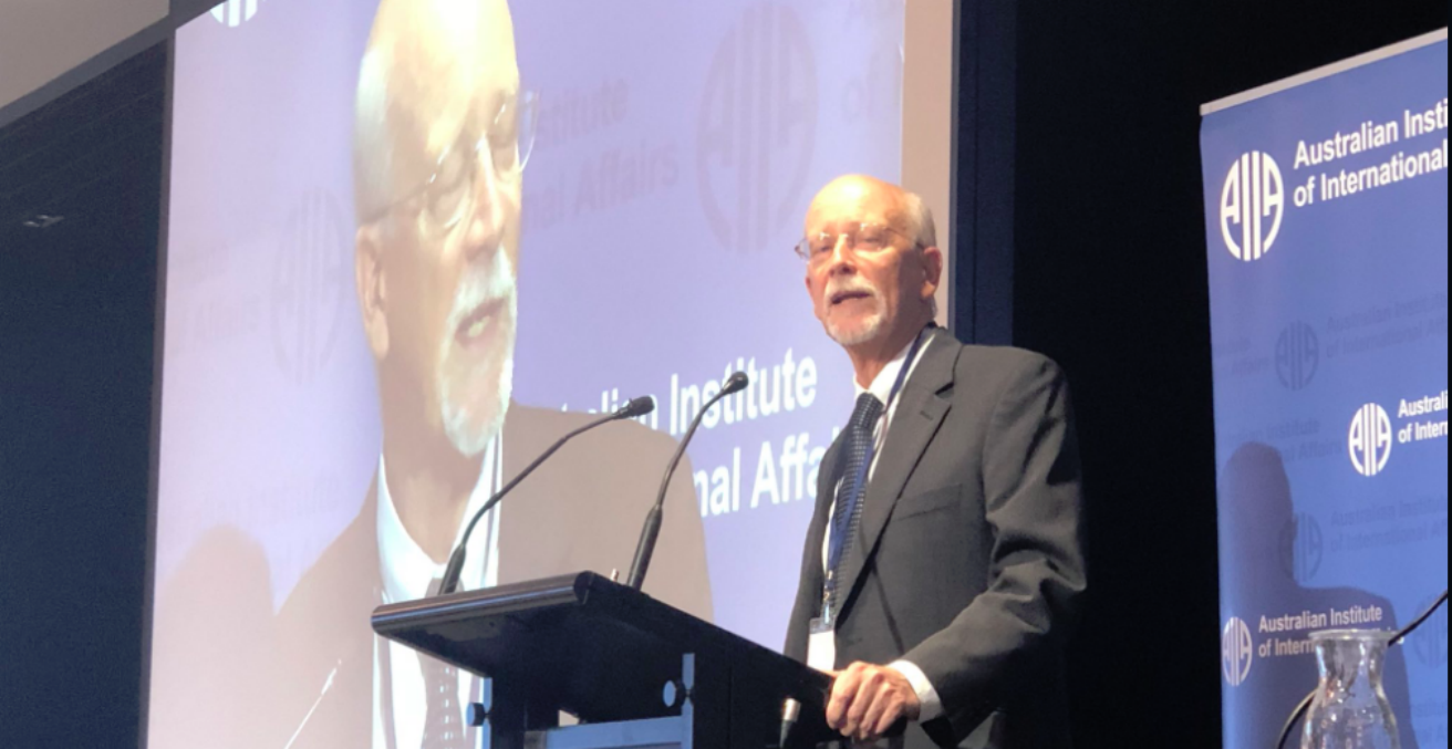 Mark Beeson at 2018 AIIA National Conference, 15 October (Credit: twitter @ameliashaw91)