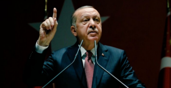 Turkish President Erdogan questions about the assassination of Jamal Khashoggi, 26 October (Credit: Twitter @enveryan)