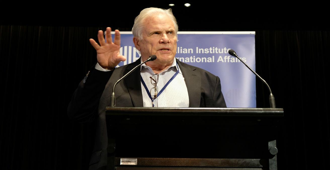 John McCarthy AO FAIIA at the 2018 AIIA National conference on 15 October (Credit: Lauren Skinner, former AIIA intern)