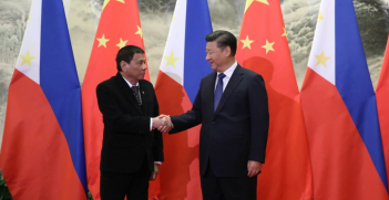 President Rodrigo Duterte and President Xi Jinping in 2016. Source: Wikimedia Commons.