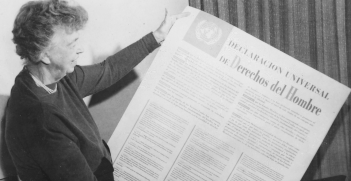 Eleanor Roosevelt and the Universal Declaration of Human Rights. Source: Wikimedia Commons.