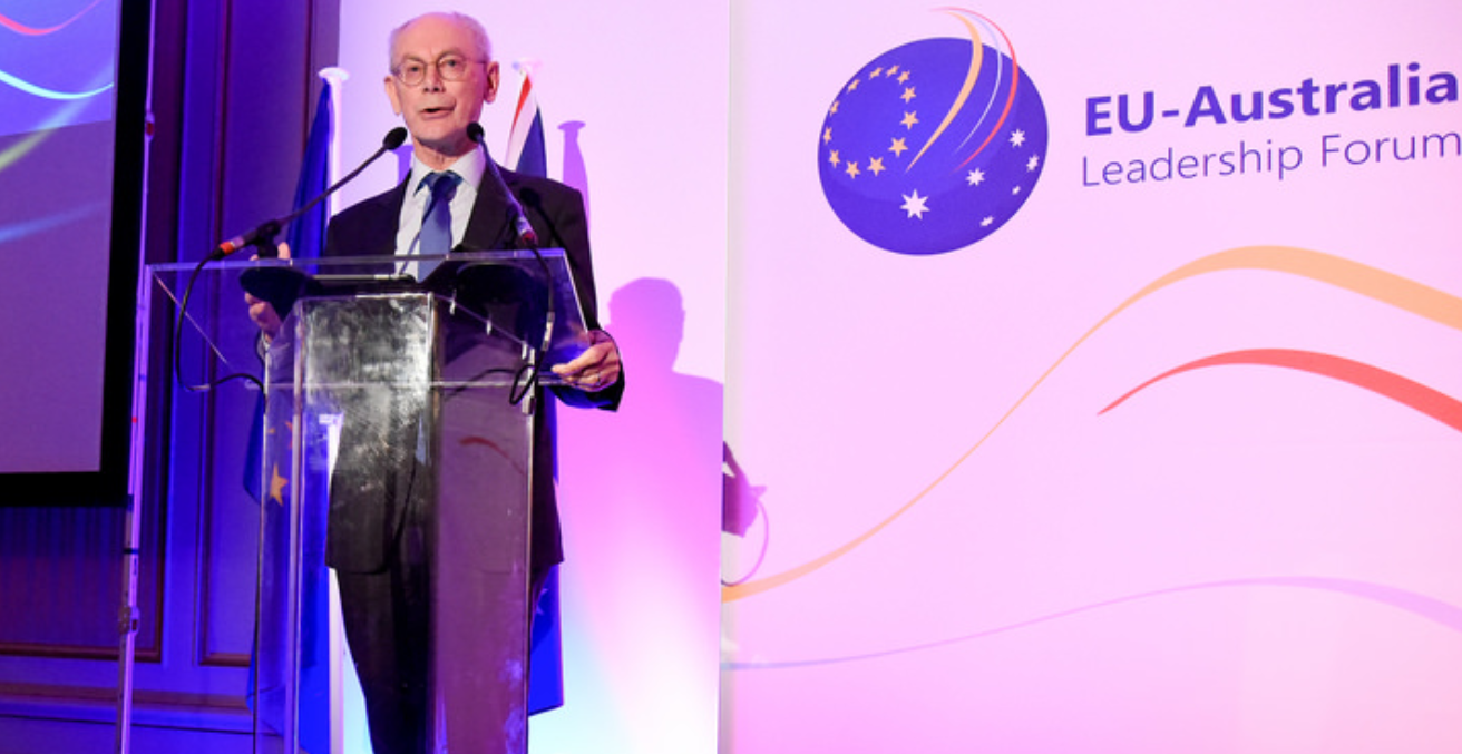 Van Rompuy at the EUALF. Source: Flickr.