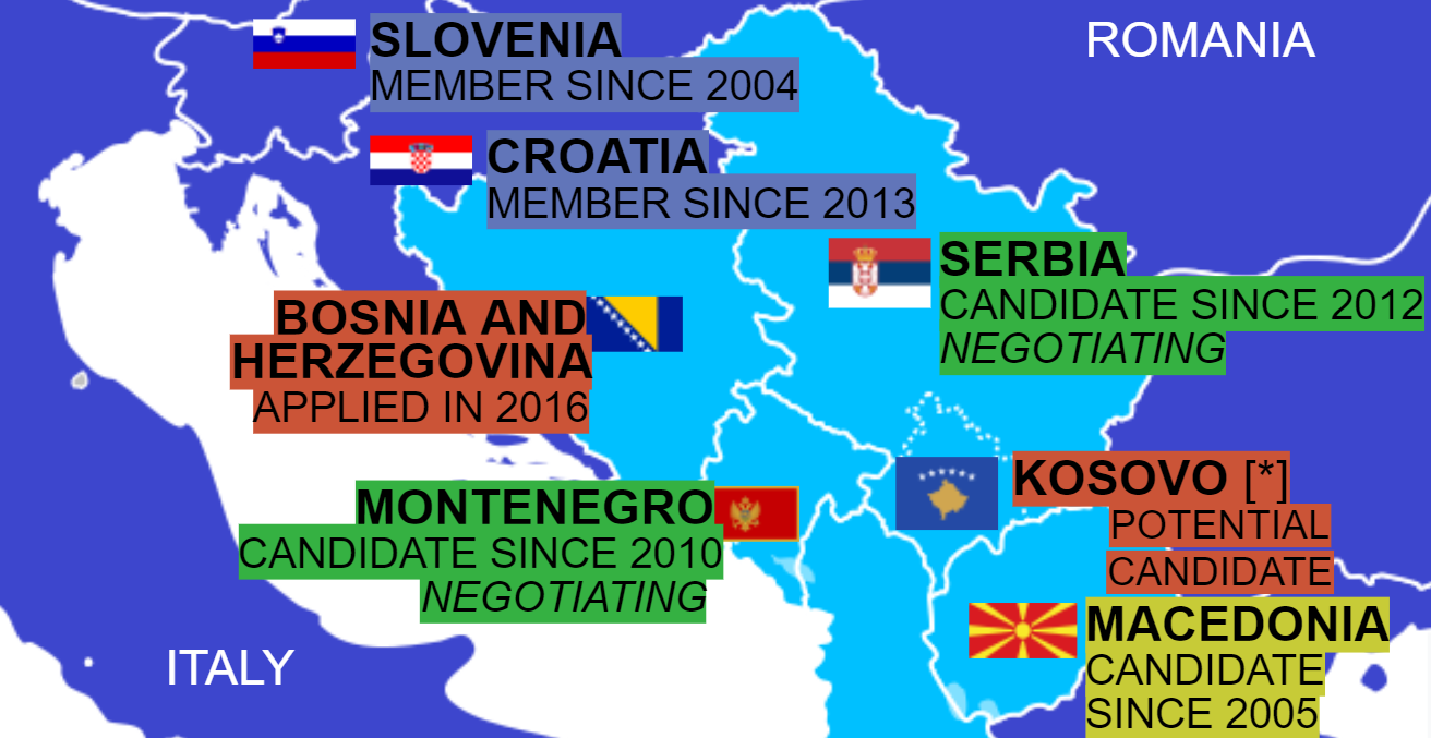 Proposed Enlargement of the EU. Source: Wikimedia Commons.