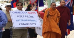 Cambodian Australians protesting in Sydney on 7 January. Photo Credit: Serenity Sam
