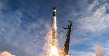 A Rocket Lab Electron rocket lifts off at Māhia Peninsula in New Zealand carrying NASA's Nanosatellites-19 payload. Source: NASA Kennedy, Flickr