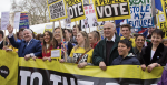 MPs Ian Blackford, Vince Cable and Caroline Lucas participate in the Brexit Put it to the People march in London on 23 March 2019. Source: Chris Beckett, Flickr