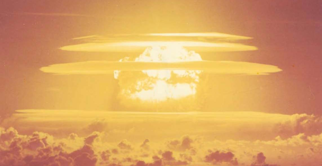 The 1954 Castle Bravo nuclear test at Bikini Atoll 3.5 seconds after detonation. Source: Defence Threat Reduction Agency
