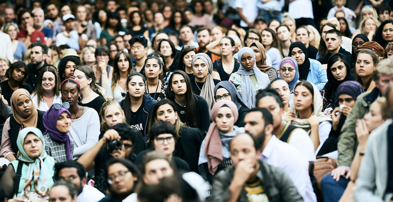A vigil for the victims of the Christchurch terror attacks in Melbourne on 18 March 2019. Photo: Julian Meehan, https://bit.ly/2CKyjW7