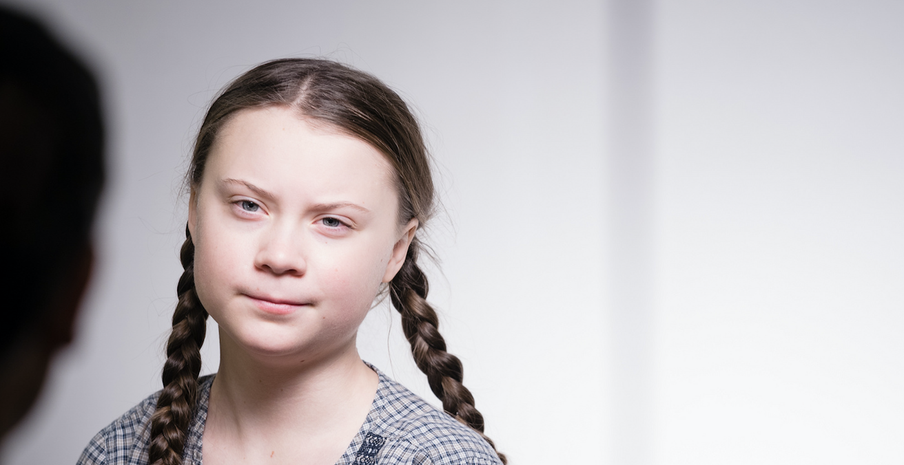 Environmental campaigner Greta Thunberg at the WEF in Davos. Source: World Economic Forum, Flickr