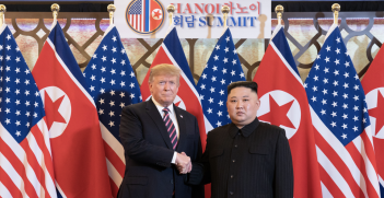 President Trump and Kim Jong Un meet in Hanoi, Vietnam. Source: The White House