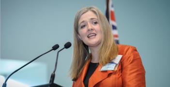 AIIA National Executive Director Melissa Conley Tyler addresses the Australian launch of the EU-Australia Leadership Forum in October 2016. Source: EU-Australia Laadership Forum