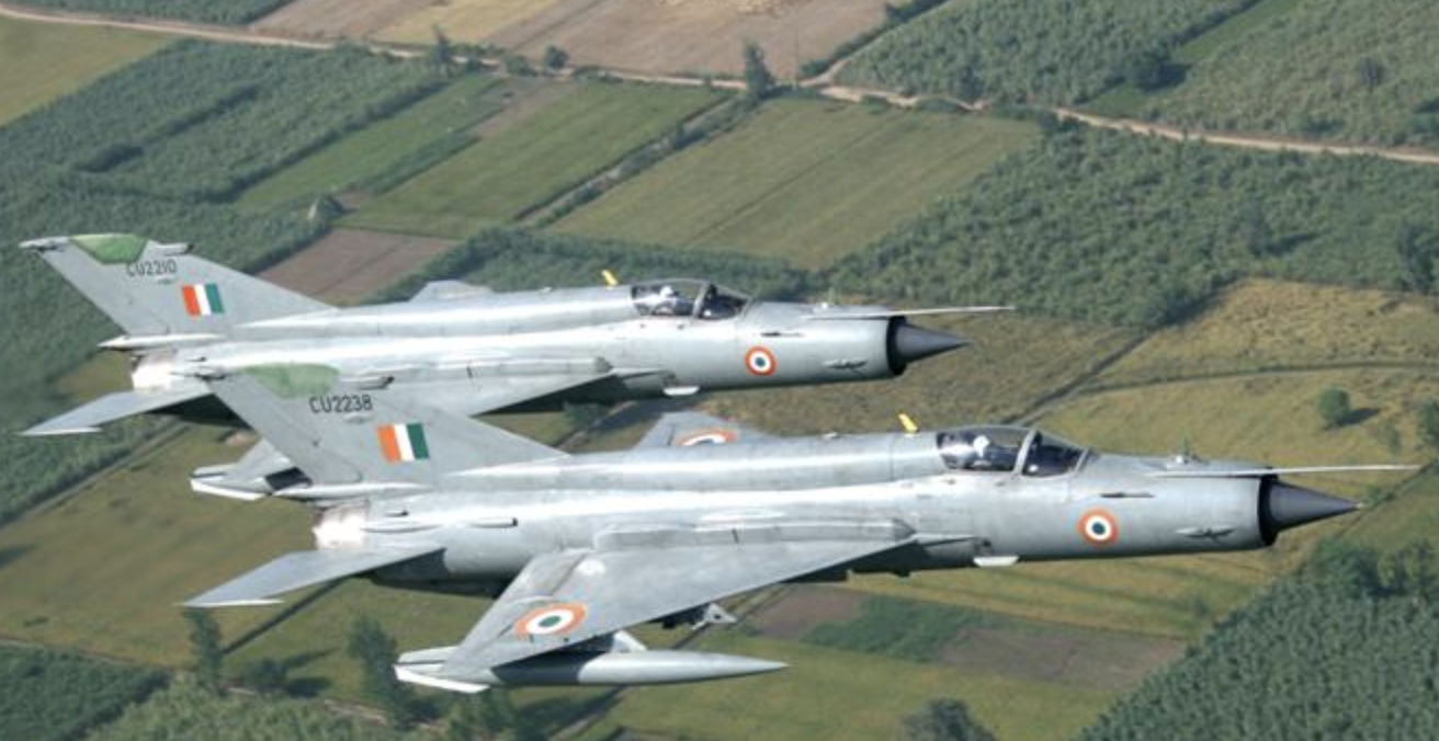 Indian Mig 21 fighters. The type of aircraft Indian Wing Commander Abhinandan Varthaman ws flying when he was shot down. Source: Indianairforce.nic.in