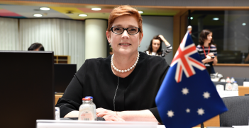 Australian Minister for Foreign Affairs Marise Payne at the Asia-Europe Meeting in Brussels in October 2018. Source: DFAT/Frederic Guerdin