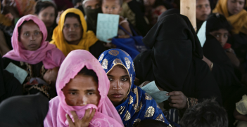 Rohingya women and children at a refugee camp in Cox's Bazar, Bangladesh. Source: UN Women, Flickr