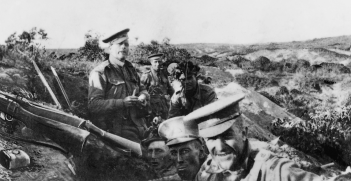 Members of 13th Battalion, AIF, occupying Quinn's Post, Gallipoli, 25 April 1915. Source: Australian War Memorial, Flickr ID Number: A05534