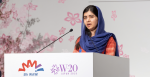 Malala Yousafzai speaks at the W20/WAW! summit in Tokyo. Source: W20/WAW! Japan