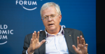 Nobel Prize winner and ANU Vice-Chancellor Brian Schmidt speaking at the World Economic Forum in Davos in January. Photo: World Economic Forum / Valeriano Di Domenico, Flickr, https://bit.ly/1hYHpKw