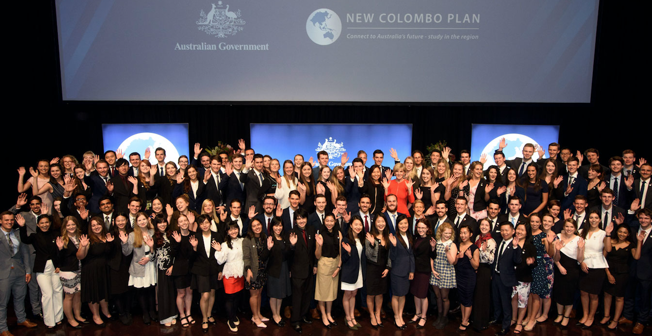 The New Colombo Plan — a signature initiative of the Australian government — encourages a two-way flow of students between Australia and the Indo-Pacific through prestigious scholarships. Source: website for the Australian Embassy in China http://bit.ly/2JW2wGf