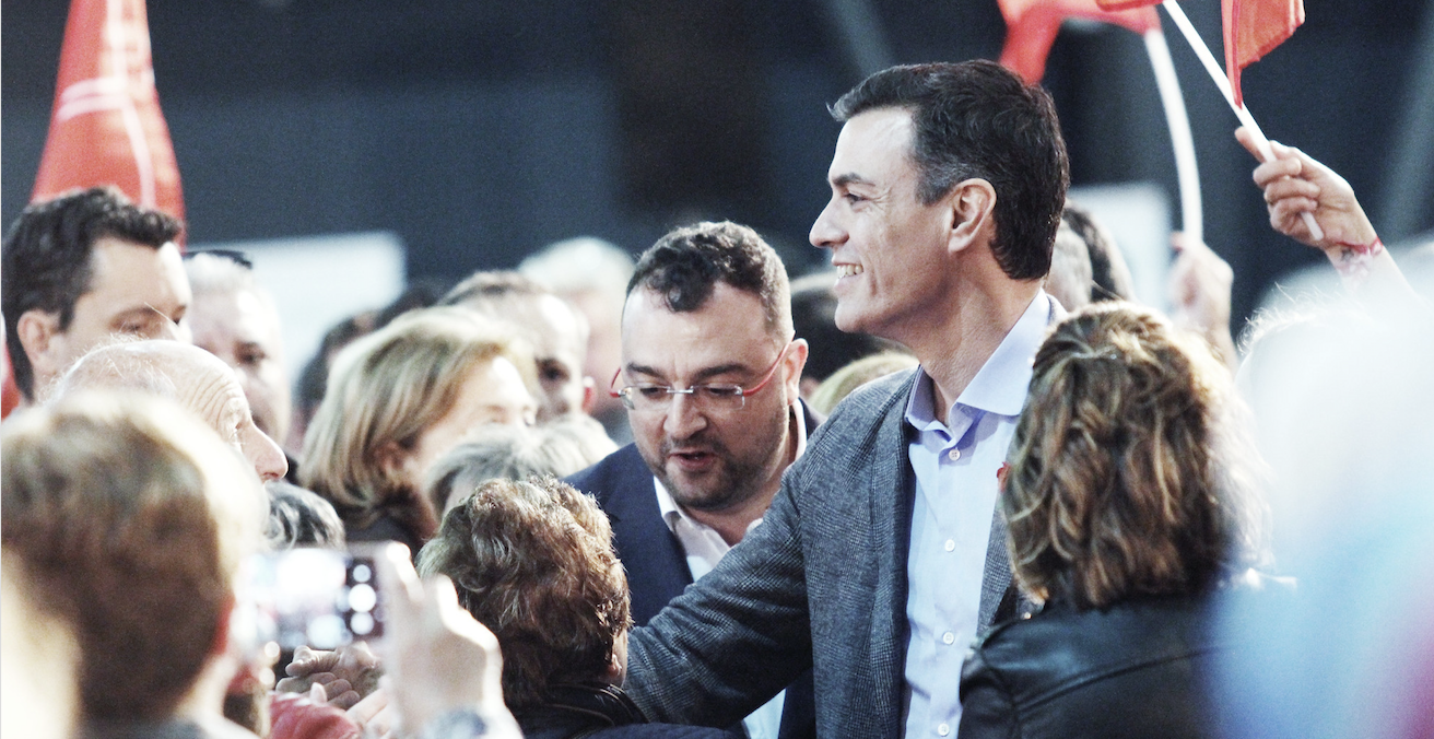 Incumbent Spanish Prime Minister Pedro Sanchez won a decisive victory in the country's election on the 28 April. Source: Palmira Escobar Martos/FSA PSOE, Flickr, https://bit.ly/1dsePQq