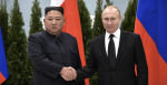 Russian President Vladimir Putin and North Korean leader Kim Jong Un met in Vladivostok in Russia's far east on 25 April. Photo: Kremlin.ru