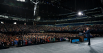 President Trump addresses the National Rifle Association's national conference in Indianapolis on 26 April 2019. Photo: Tia Dufour/White house, Flickr