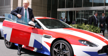 When he was out and about on official business, former UK Foreign Secretary Boris Johnson liked to emphasise Britain's identity. Source: Flickr--UK in Japan- FCO