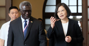 Taiwan President Tsai and Solomon Islands Prime Minister Manasseh Sogavare Source: Flickr, 總統府 http://bit.ly/2K5U5rY
