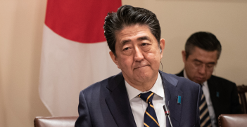 Abe Shinzo at White House on April 26, 2019. Source: Flickr, The White House http://bit.ly/2KfBc4q