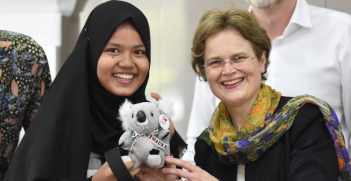 Frances Adamson (right) became the first female foreign secretary in 2016, a role previously seen as more appropriate for males. Source: Australian Embassy Jakarta, Flickr http://bit.ly/2K5U5rY