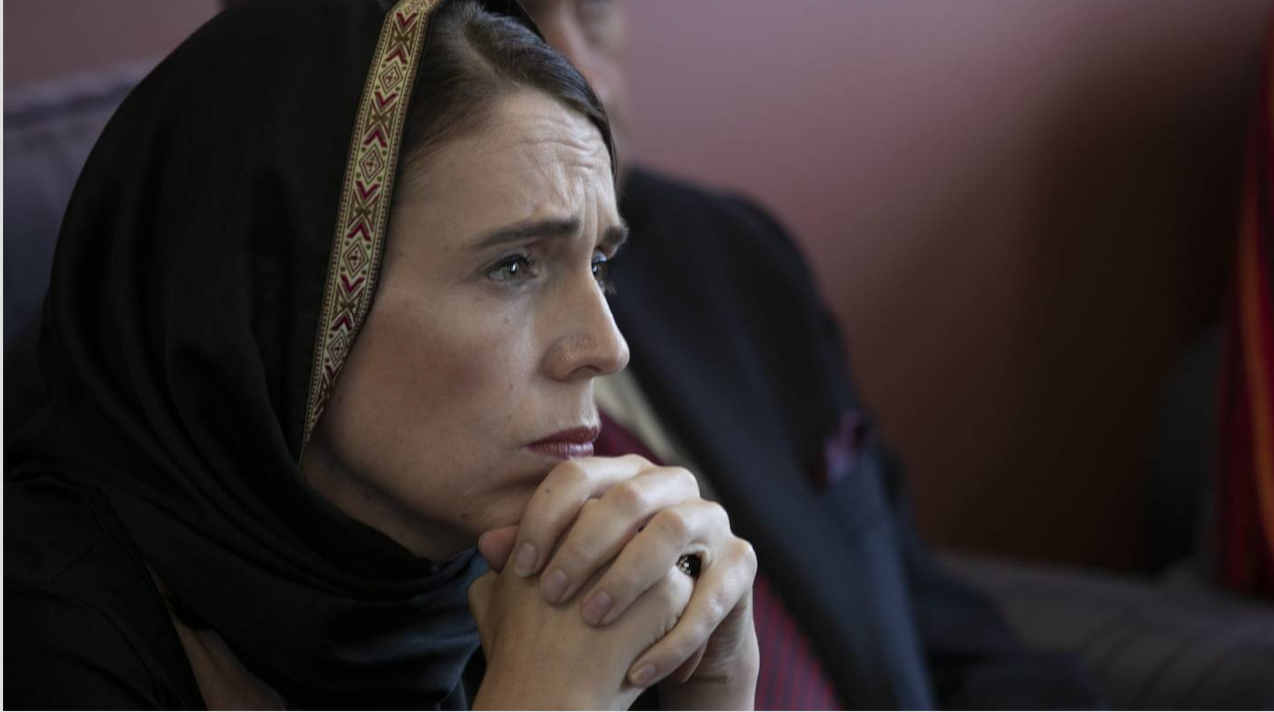 72 hours after the Christchurch tragedy occurred, and after announcing the New Zealand government would ban assault rifles, Prime Minister Ardern mourned at a vigil in full hijab attire. Source: Flickr, appaloosa http://bit.ly/2HVunos