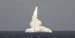 A nuclear launch from the USS Rhode Island submarine off the coast of Florida, on 9 May 2019. Source: US Strategic Command government website http://bit.ly/2xyNTBk