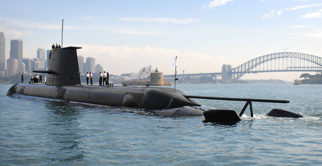 Hugh White's new book envisages a fleet of 24 submarines, similar to the Collins class submarines that Australia already operates, to exercise maritime denial operations. Source: Flickr - Horatio J Kookaburra. https://creativecommons.org/licenses/by-nc-sa/2.0/