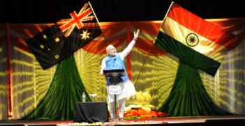 PM Modi addressing the Australian Indian community in Sydney. Source, Flickr: Narendra Modi.