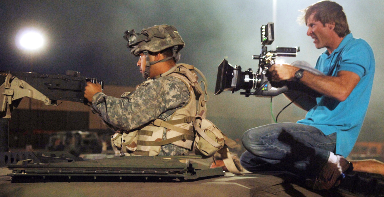 The US government allows Hollywood producers of the 'Transformers' movie to film the actual US military  in return for a positive portrayal of their forces, aimed at attracting and maintaining recruits.  Source: US Air Force govt website, http://bit.ly/2MdOZuV
