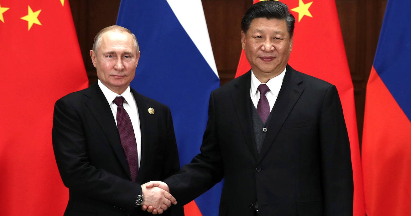 Vladimir Putin and Xi Jinping at Chinese-Russian talks in April 2019. Source: Kremlin website http://bit.ly/2JpdlhX