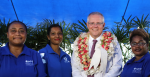 Prime Minister Scott Morrison with APTC alumni in January 2019. Source: Flickr, Australia Pacific Training Coalition http://bit.ly/333ptOY