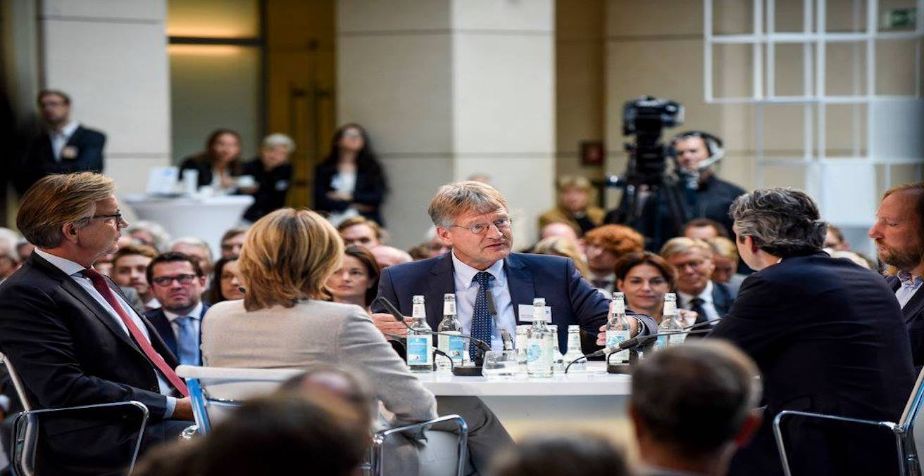 Image of the leader of Alternative für Deutschland leader, Jörg Meuthen, Source: Deutsche Bank, Flickr, https://bit.ly/2lEwCUw