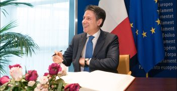 Prime Minister Giuseppe Conte at the European Parliament, Source: European Parliament, Flickr, https://bit.ly/30NKBHq