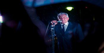 AMLO giving a speech in Zocalo, Mexico City. Source: Eneas De Troya, Flickr, https://bit.ly/2kt648F