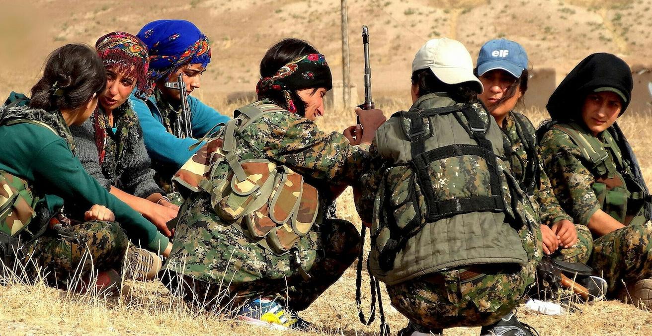Kurdish YPG fighters, Source: KurdishStruggle, Flickr, https://bit.ly/2P50mq8